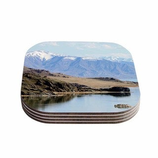 Sylvia Coomes 'Mountain Reflection ' Brown Nature Coasters (Set of 4)