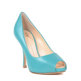 Giuseppe Zanotti Women's Blue/Red Open-toe Pump