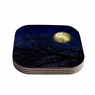 Sylvia Coomes 'Blue Moon ' Blue Celestial Coasters (Set of 4)