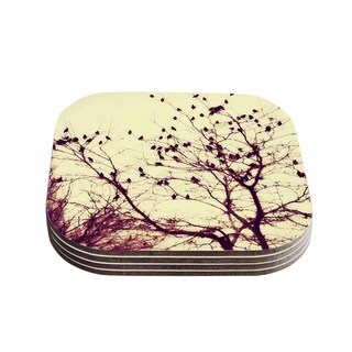 Sylvia Coomes 'Darkness Into Light ' Green Nature Coasters (Set of 4)