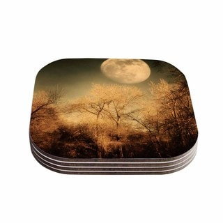 Sylvia Coomes 'Full Moon ' Brown Nature Coasters (Set of 4)