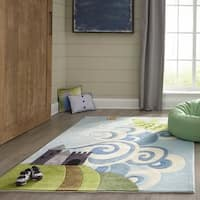 Momeni Lil Mo Whimsy Sky Magical Dragon Hand-Tufted and Hand-Carved Rug (5' X 7') - 5' x 7'