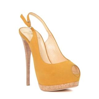Giuseppe Zanotti Women's Yellow Suede Heel Sandal