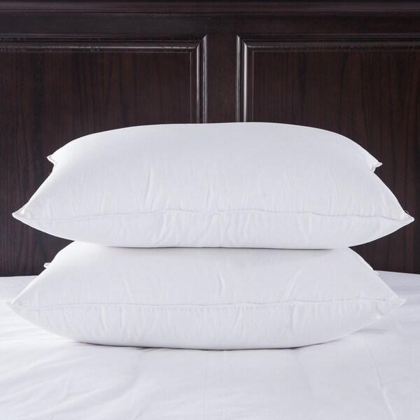 Puredown Luxury 400 Thread Count Egyptian Cotton White Goose Down Pillow