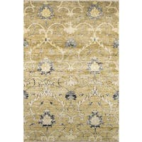 """Artiste Hand-Knotted Green Embellishment Rug - 5'6"""" x 8'6"""""""