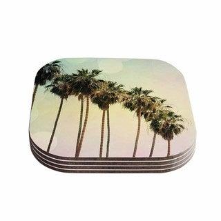 Sylvia Coomes 'Palm Trees' Coastal Photography Coasters (Set of 4)