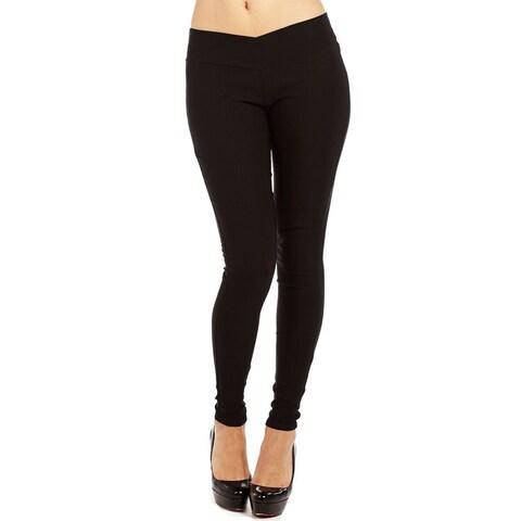 Form Fitting Casual Black Legging Pants