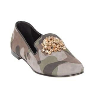 Giuseppe Zanotti Women's Camouflage Rhinestone Slip-ons