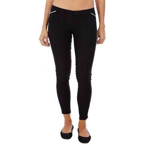 Dinamit Black and White Cotton Lyrca Legging Pants