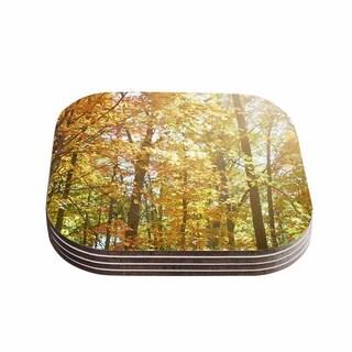 Sylvia Coomes 'Autumn Trees 2' Orange Yellow Coasters (Set of 4)