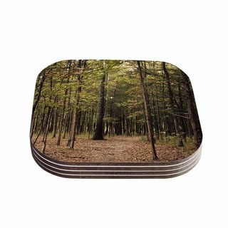 Sylvia Coomes 'Forest Trees' Green Brown Coasters (Set of 4)