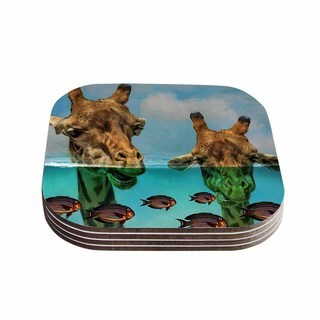 Suzanne Carter 'Larry & Fred Periscope' Mixed Media Animals Coasters (Set of 4)
