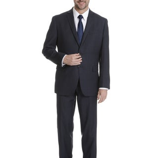 Daniel Hechter Men's Navy Tic Weave Modern Fit Wool Suit