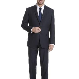 Daniel Hechter Men's Navy Tic Weave Modern Fit Wool Suit