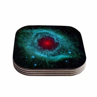 Suzanne Carter 'Helix Nebula' Black Celestial Coasters (Set of 4)