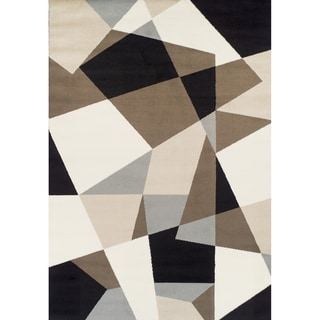 Machine-made Geometric Multicolored Olefin Rug (5'2 x 7'7)