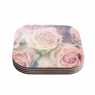 Suzanne Carter 'Faded Beauty' Blush Floral Coasters (Set of 4)