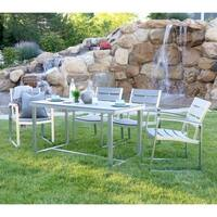 Carbon Loft Ostriker Grey All-weather Outdoor 5-piece Patio Dining Set