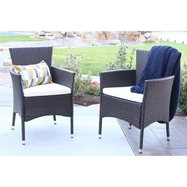 Angelo HOME Rattan Patio Dining Chairs Set Of 2 Free Shipping Today Ove