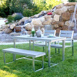 Carbon Loft Ostriker All-weather Grey 4-piece Patio Dining Set