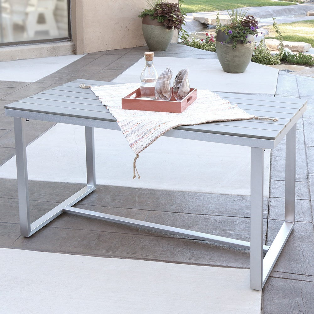 Shop Grey AllWeather Outdoor Dining Table Free Shipping On Orders - All weather outdoor dining table
