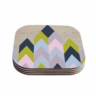 Suzanne Carter 'Woodgrain' Geometric Coasters (Set of 4)