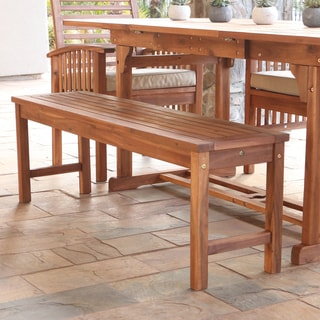 Acacia Wood 53-inch Brown Patio Bench
