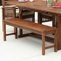 The Gray Barn Bluebird Dark Brown Acacia Wood Outdoor Dining Table