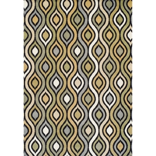 Tribeca Machine-made Multicolor Olefin Rug (5'2 x 7'7)