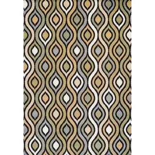 Achim Tribeca Machine-made Multicolor Olefin Rug (5'2 x 7'7) - Green - 5'2 x 7'7