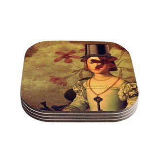 Suzanne Carter 'The Key' Portrait Coasters (Set of 4)
