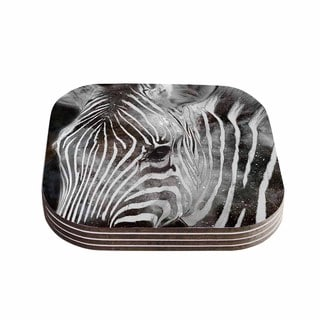 Suzanne Carter 'Space Zebra' Celestial Stripes Coasters (Set of 4)