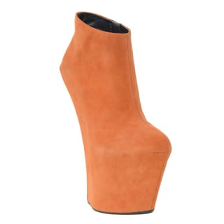 Giuseppe Zanotti Women's Orange Suede Booties