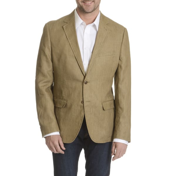 a3e6a3328b0c Shop Daniel Hechter Men's Garment Washed Soft Linen Sport Coat ...