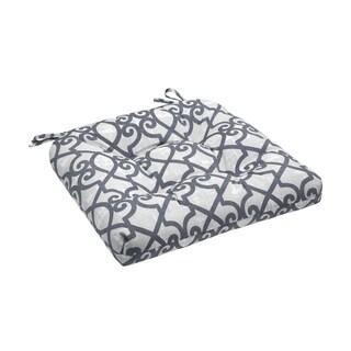 Madison Park Crystal Grey Printed Fretwork 3M Scotchgard Outdoor Cushion