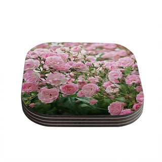 Kess InHouse Sylvia Cook 'The Fairy Rose' Pink Floral Coasters (Set of 4)