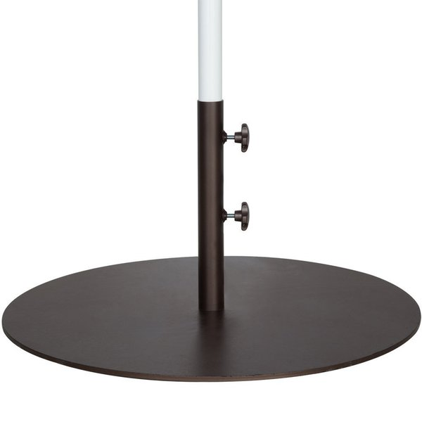 Abba Patio Round Steel 28 Inch Diameter 55 Pound Market Umbrella Base