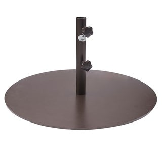 Abba Patio Round Steel 28-inch Diameter 55-pound Market Patio Umbrella Base