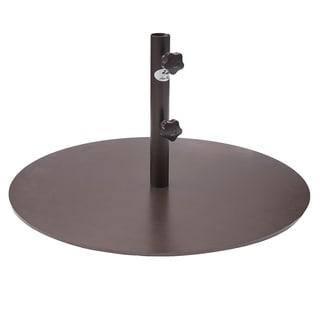 Abba Patio Round Steel 28 Inch Diameter 55 Pound Market Patio Umbrella Base