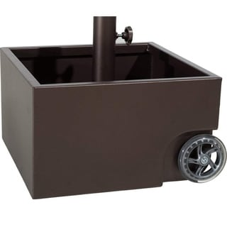 Abba Patio Stainless Steel Sand-filled Square Umbrella Base/Planter With Two Wheels