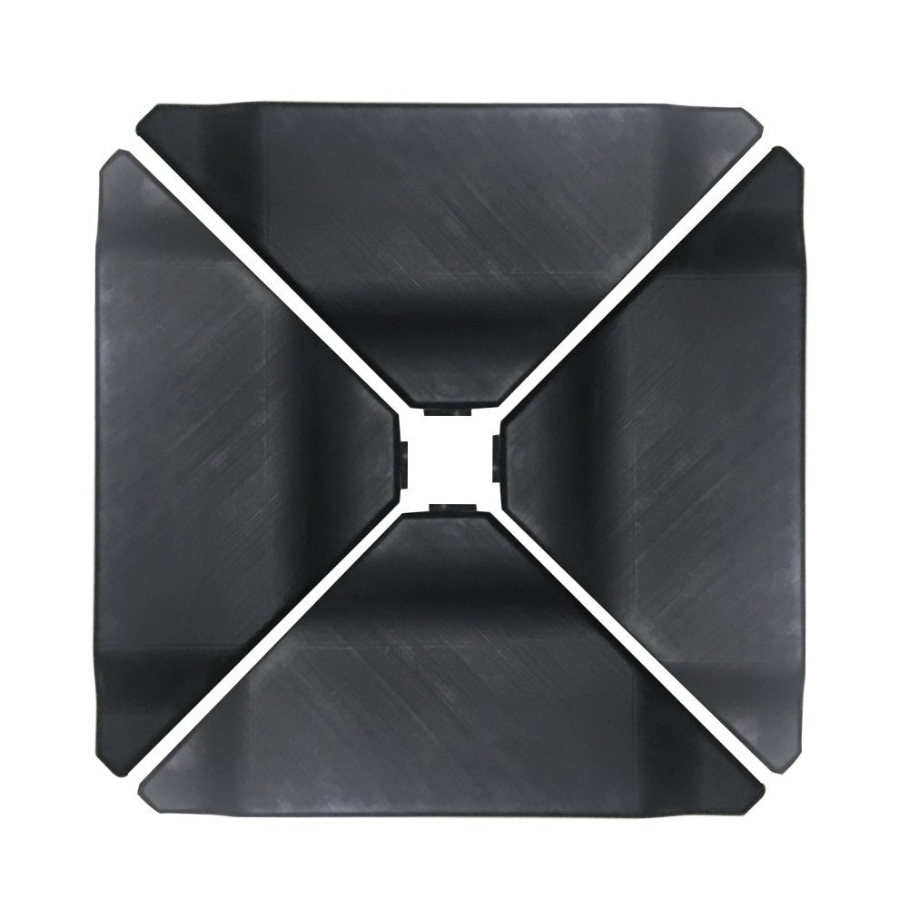 ABBA Black Plastic Umbrella Base Plate Set for Cantilever...