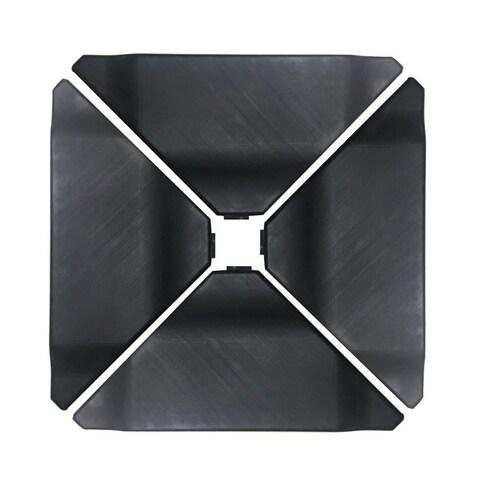 Abba Black Plastic Umbrella Base Plate Set for Cantilever Offset Umbrella