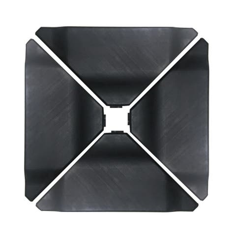 Havenside Home Acapulco Black Plastic Umbrella Base Plate Set for Cantilever Offset Umbrella