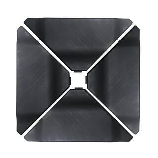 Abba Black Plastic Umbrella Base Plate Set For Cantilever Offset