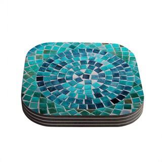 Kess InHouse Sylvia Cook 'Circular' Coasters (Set of 4)