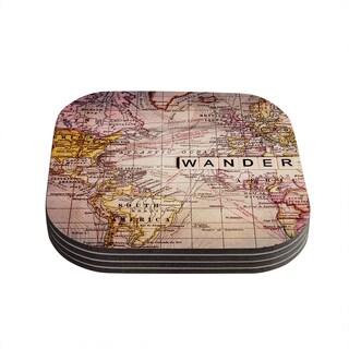 Kess InHouse Sylvia Cook 'Wander' Coasters (Set of 4)