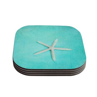 Kess InHouse Sylvia Cook 'Starfish' Coasters (Set of 4)