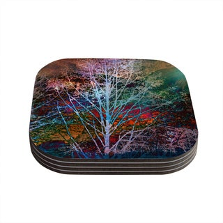 Kess InHouse Sylvia Cook 'Trees in the Night' Coasters (Set of 4)
