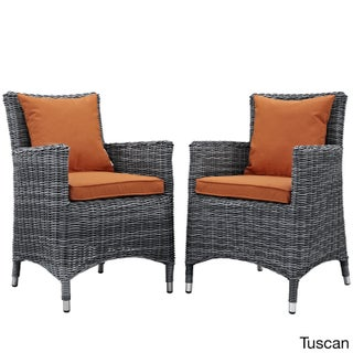 2-Piece Water & UV-Resistant Armchair Set w/ Sunbrella Cushions