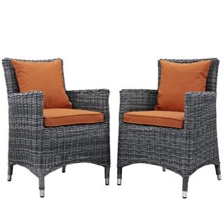 2-Piece Water & UV-Resistant Armchair Set w/ Sunbrella Cushions